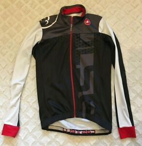 Medium Castelli Cycling jersey jacket cycle bike men's long sleeve zip 21-574