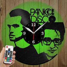LED Vinyl Clock Panic at the Disco LED Wall Art Decor Clock Original Gift 3342
