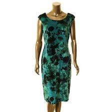 CONNECTED APPAREL NEW Women's Floral Velvet Cap Sleeve Sheath Dress TEDO