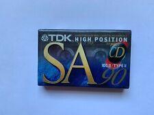 TDK SA 90 Type II Blank Cassette Tape. New Sealed. NOS.