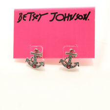 New Betsey Johnson Anchor Stud  Earrings Gift Fashion Lady Party Holiday Jewelry