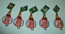 Old World Christmas Rose Petal Fairy Christmas Ornament Decoration NWT Set of 5