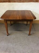 ANTIQUE VICTORIAN WIND OUT OAK EXTENDING DINING TABLE ( No Handle Or Leaf )