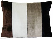 Velvet Striped Rectangular Decorative Cushions