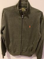 Men's Polo Ralph Lauren Performance Full Zip Track Jacket-Size M Olive Green