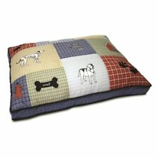 Petmate Multi Colored Classic Dog Applique Gusseted Bed 27x36x3 in 029695277764