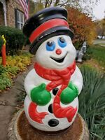 Blow Mold Grand Venture Frosty The Snowman! Lighted Plastic Christmas