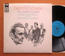 CBS 72687 Dietrich Fischer-Dieskau Juilliard Quartet Schoeck Barber NM Stereo LP