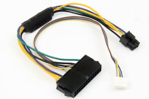 ATX PSU 24Pin To 6Pin + Small 6Pin power Cable For HP Elite 8100 8200 8300 800G1