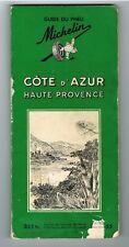 CÔTE D'AZUR HAUTE-PROVENCE - GUIDE DU PNEU MICHELIN - 1954 - ÉTAT CORRECT