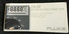 Fluke 79/29 Multimeter Instructions