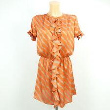 T-BAGS LOS ANGELES Kleid Dress Orange Beige Gr. S 36