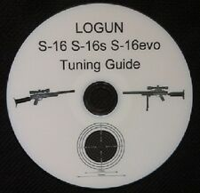 LOGUN S16 S16s S16evo TUNING GUIDE,PRINTED DVD+FREE TARGETS