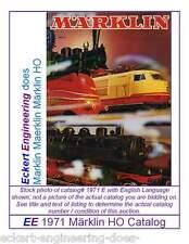 EE 1971 E Marklin Märklin Total Catalog Catalogue 1971E Excellent Condition