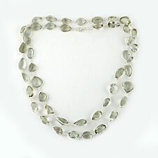 925 Sterling silver Green Amethyst stone necklace for gift