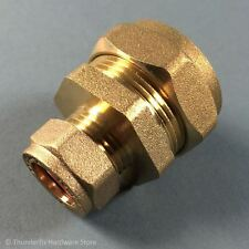 28mm x 15mm Compression Reducer Coupling Brass (x1)