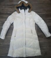 Nike Hooded Down Jacket Rare Long Puffy Winter Vintage Women's Size Large White