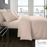 Plain Dye Easy Care Mix and Match Duvet Cover & Sheets in Blush Pink by Serene