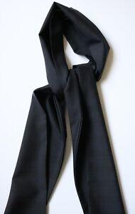 """Navy blue & black Plaid scarf cravat. 100% Dormeuil wool suit fabric 62"""" x 6.5"""""""