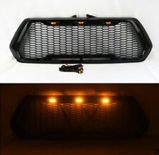 LED Honeycomb Mesh Gloss Black Front Bumper/Hood Grill for Toyota Tacoma 16-19