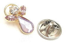 Message Angel Birthstone Alexandrite Crystal Pin Badge