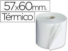 LOTE 10 ROLLOS SUMADORA TERMICO Q-CONNECT 57 MM ANCHO X 60 MM DIAMETRO 21760