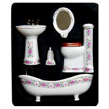 5pcs Set Puppenhaus Miniatur-Keramik Handtücher Kit Modell Luxus Retro 1:12 Kit