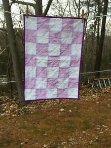 """EYELET & LAVENDER GINGHAM BABY CHANGING PAD 17.5"""" x 24.5"""" - HAND MADE - BCP 119"""