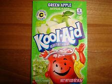 10 *RARE* Kool Aid Drink Mix GREEN APPLE flavor popsicle fruit taste summer RARE