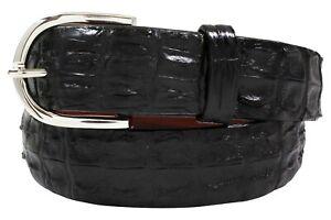Genuine Black Hornback Alligator Leather Belt (Made in U.S.A)