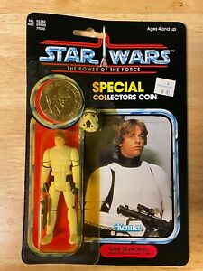 Star Wars POTF Luke Skywalker Stormtrooper Figure -1984 Kenner 92Back - Unopened