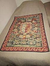 Point Des Meurins-Blason Royal 5234 French Tapestry Lined Wall Hanging