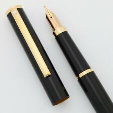 Sheaffer Fashion II Fountain Pen (#286) - Black w GT, Medium Nib (New Old Stock)