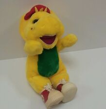 "Vintage 1994 Lyons Bj Yellow Barney Dinosaur 13"" Vinyl Shoes Plush Stuffed Toy"