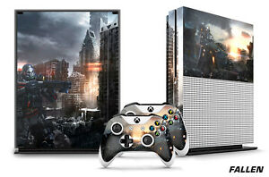 Designer Skin for XBOX ONE S 1S Gaming Console+2 Controller Sticker Decal FALLEN