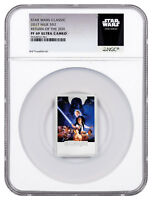 2017 Star Wars Posters Return Jedi 1 oz Silver Rectangle NGC PF69 UC ER SKU49463