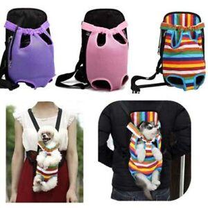 Pet Carrier Travel Sling Front Mesh Dog Cat Nylon Tote Shoulder Bag Pack Leg Out