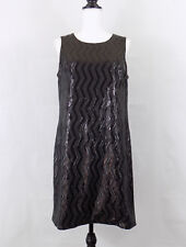 Banana Republic Monogram Womens Dress Size 12 New Sequin Black Cocktail Formal