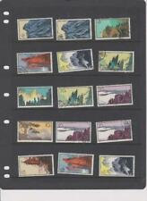 More details for 554) china prc 1963 huangshan s57 used 15 stamps mixed condition