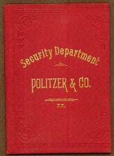 Politzer & Co., San Francisco, Hardcover Bond Book, Issued 1895