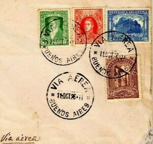 ARGENTINA Air Mail Cover JUNKERS MISSION Buenos Aires Montevideo 1926 EP411