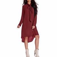 Women's Long Sleeve Maxi Dress Loose Casual Tops Blouse Shirt Dresses Plus Size