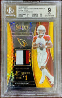 Kyler Murray 2019 Select GOLD Draft Selections Patch Rookie RC 5/10 BGS 9 POP 1