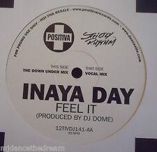 "INAYA DAY ~ Feel It ~ 12"" Single PROMO"