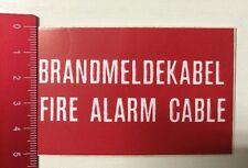 Aufkleber/Sticker: Brandmeldekabel - Fire Alarm Cable (10031679)