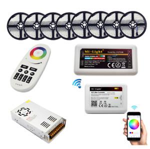 5050 DC12V WIFI RGBW LED Strip IP65 RGBWW Flexible Light+WIFI Controller+Power