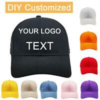 Personalised Embroidered Baseball Cap Custom Hat Unisex Mens Ladies Snapback Cap