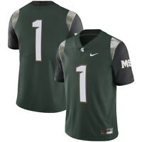 Nike Michigan State Spartans #1 STITCHED Limited Football Jersey Small NWT $135
