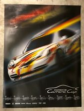 """1998 Porsche 911 """"Carrera Cup"""" Showroom Advertising Poster RARE Awesome L@@K"""
