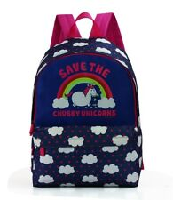 DAVID AND GOLIATH SAVE THE CHUBBY UNICORNS SCHOOL BACKPACK RUCKSACK BAG